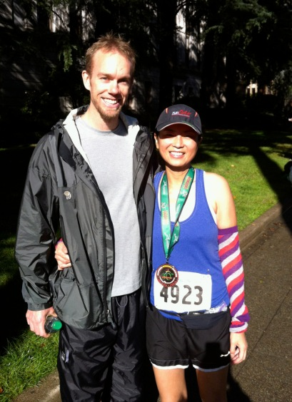 Me with the Gypsy Runner, the best spectator/supporter a runner could hope for.