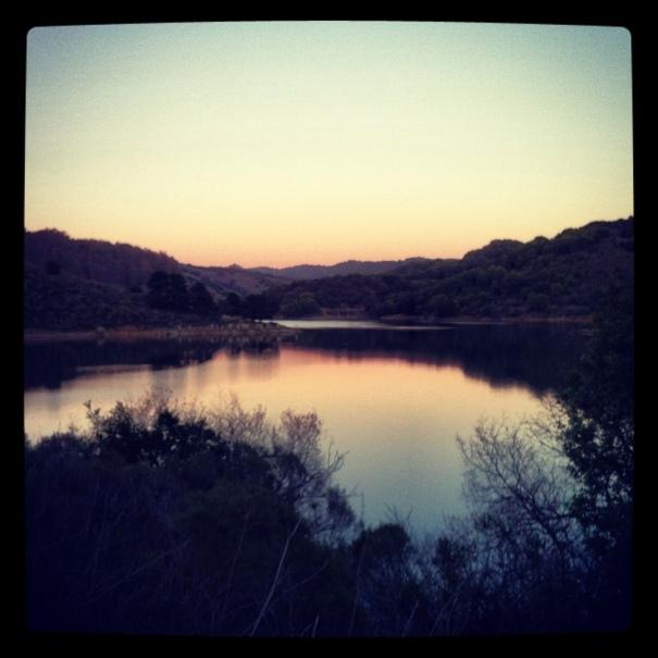 Pretty sunset at Lake Chabot.