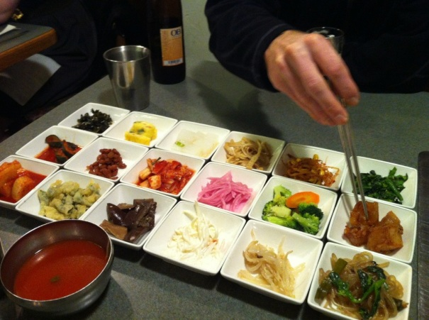 This was just the beginning of our Korean feast. So yummy.