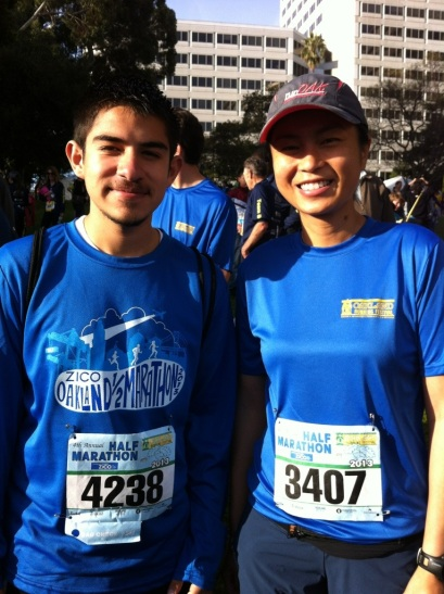 Alejandro and me before the race.