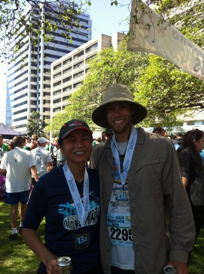 It doesn't look like it, but the Gypsy Runner did actually run the half marathon.