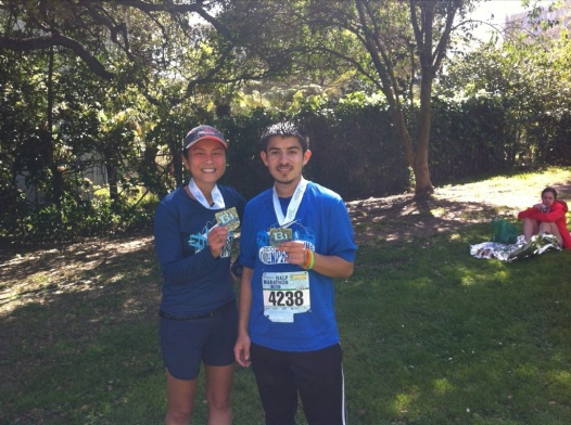 Me and Alejandro with our medals. Victory!