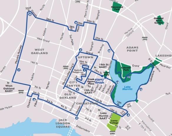 Oakland half route