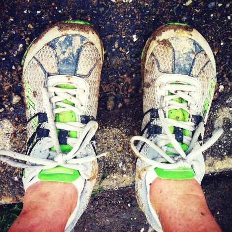 Muddy shoes! You should've seen the back of my legs...