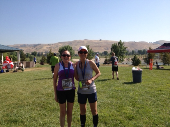 KP and I with the Fremont Hills in the background.