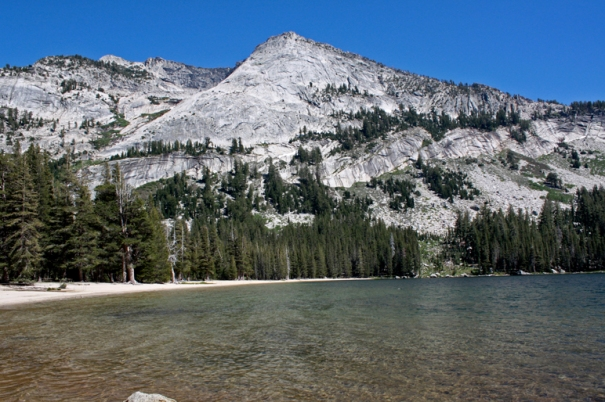 Tenaya Lake, where we swam and sunbathed.