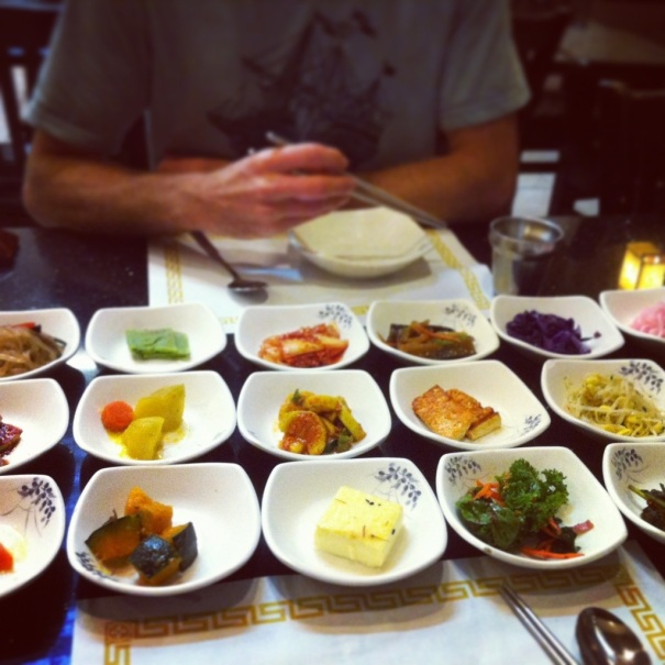 Banchan (small pickles/appetizers): GET IN MY BELLY!