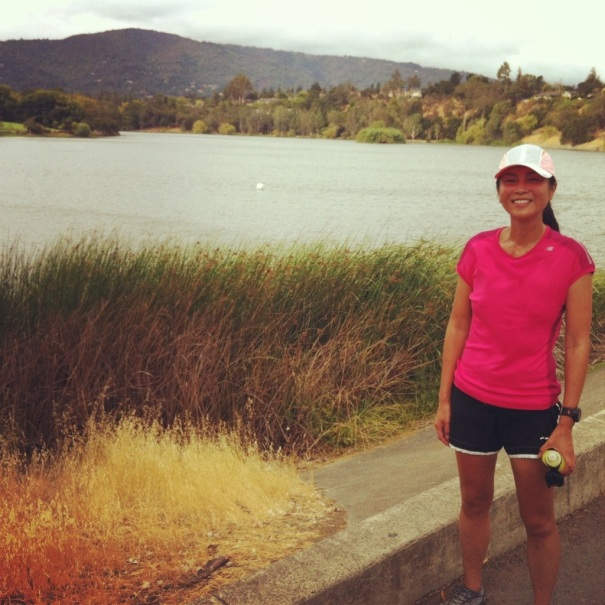 We ran by the Vasona Reservoir -- scenic, huh?