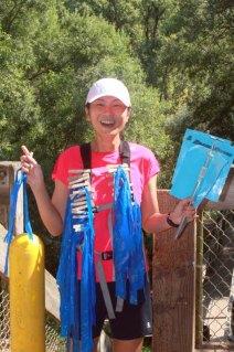 Volunteering as a sweeper for Brazen's Bad Bass race in July.