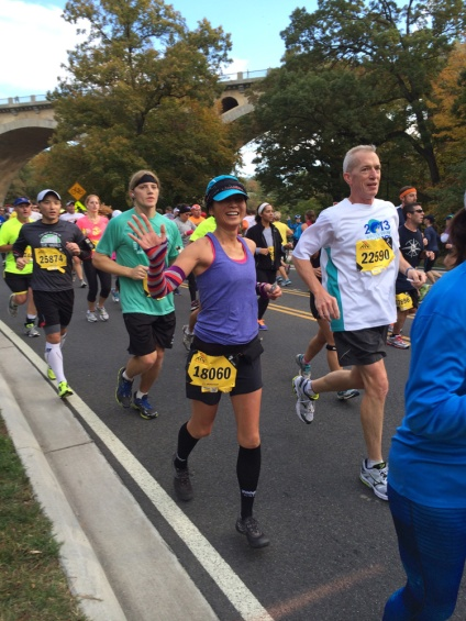 So happy to see AC and LGS at mile 7.5!