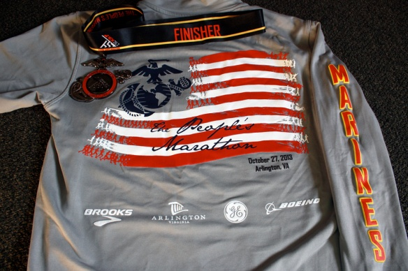 Shirt and medal, back.