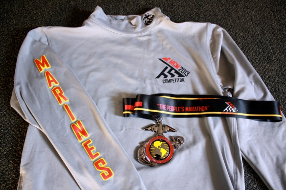 Shirt and medal, front.