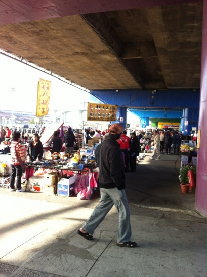 A flea market, because you never know in case you feel like shopping in the middle of your run