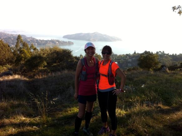 Cathryn and I with Angel Island in the background.