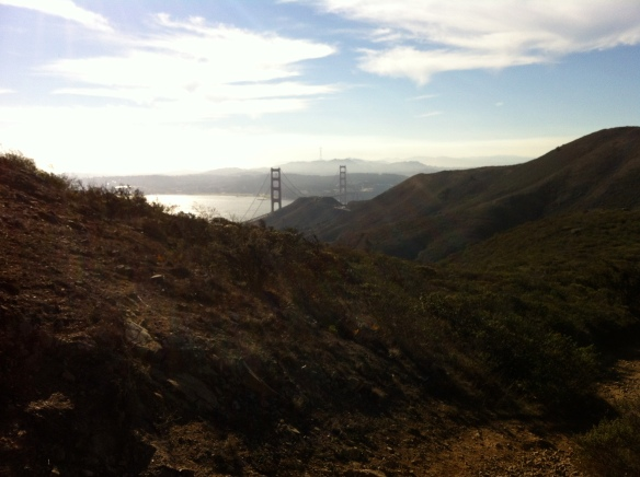 View of the Golden Gate Bridge from SCA Trail.
