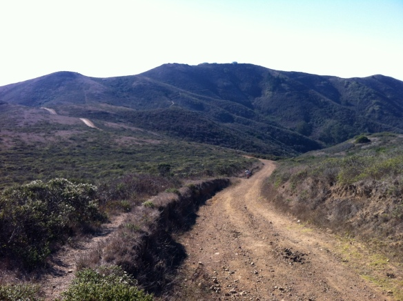 Almost at the top of Miwok, looking downhill.