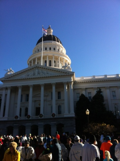 The Capitol Building at the CIM finish.