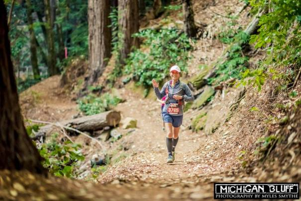 Happiness is trail running in a beautiful redwood forest! (Photo courtesy of