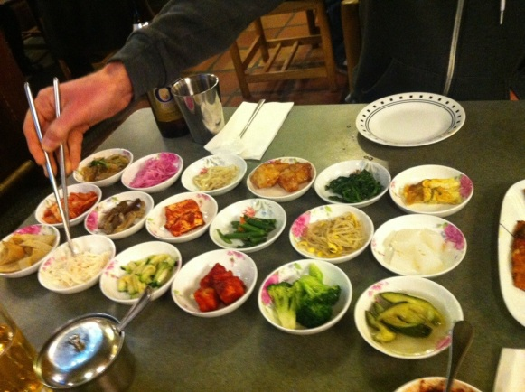 All the banchan to celebrate a new PR!