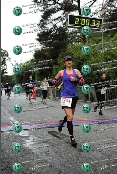 Looking surprisingly calm (not exhausted) at the finish.  (Photo credit: EP Photo)