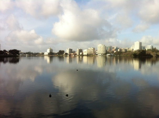 I'll miss you Lake Merritt! (Taken on my last lap around the Lake on Thursday.)