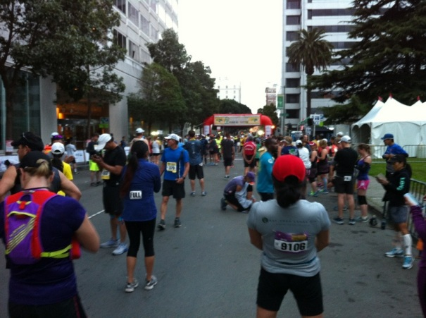 The least crowded marathon start I've ever seen.