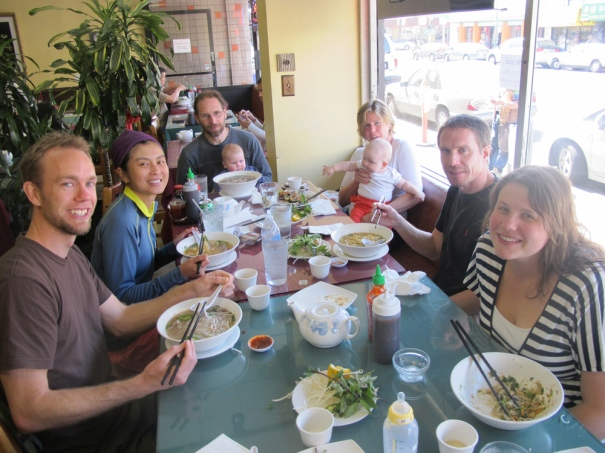 Chowing down! (photo courtesy of VH)