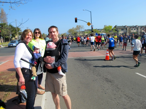 I was very happy to see these friendly faces at Mile 20! (photo courtesy of VH)
