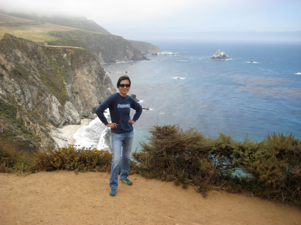 Striking a dorky pose at Big Sur in 2009.