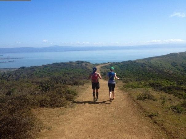 Running on the ridge of San Bruno Mountain. (Photo credit: Cathryn)