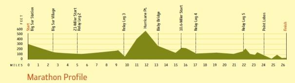 Big Sur Half Marathon Elevation Map.Race Preview Big Sur International Marathon Running Tangents