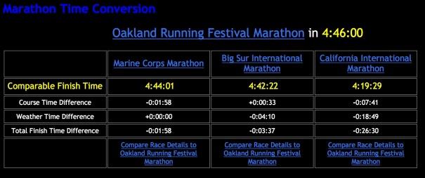 marathon times copy