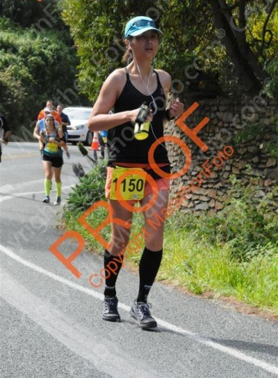 This was one of the uphills towards the end that I actually ran... and maybe only because I saw the photographer there.  They should've put photographers at every hill, for all of us motivated by vanity.
