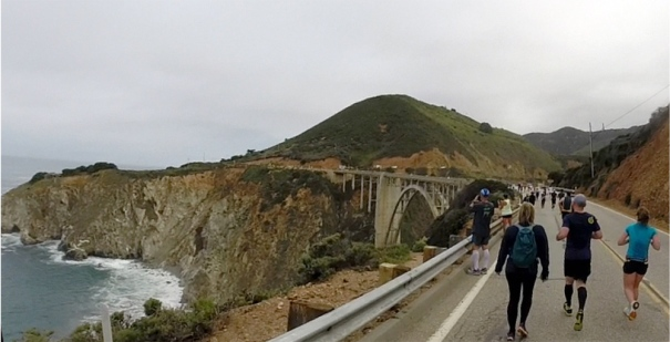 Approaching Bixby Bridge.  Photo credit: Mike.