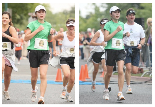 A couple shots taken close to the finish. I look a lot more alert than I recall!
