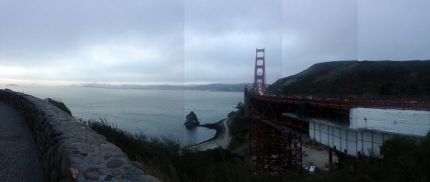 Handstitched panoramic -- because I haven't figured out how to do that on my phone just yet.