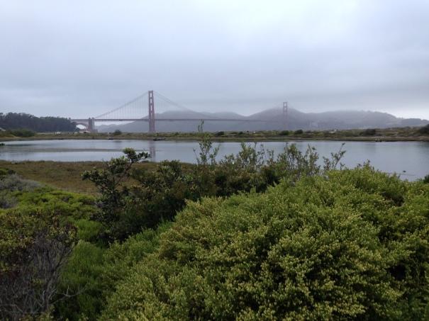 First views of the Golden Gate Bridge.