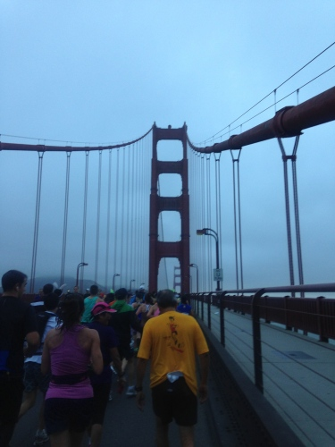 One of many photos I took while running on the GGB.