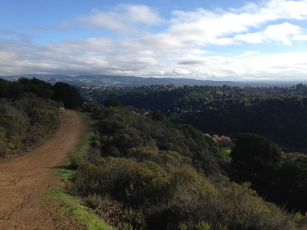The hills pay the bills...and for the views!  Gorgeous day at Lake Chabot.
