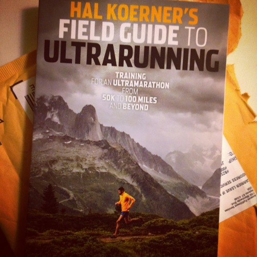 So this came in the mail on Thursday.  My goal for 2015 is to run a 50K.  I haven't picked a race yet, but I hope that this book will be a useful resource during training!