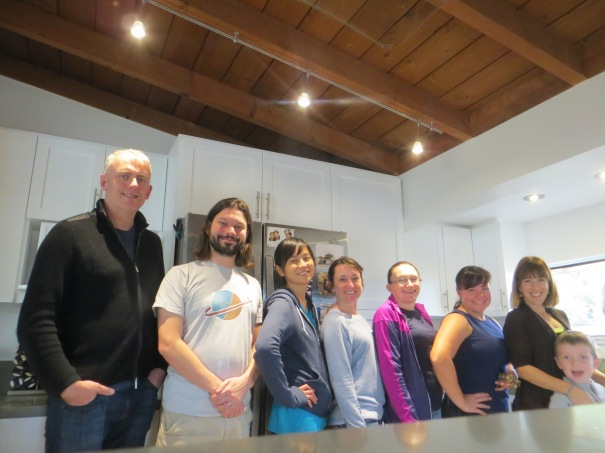 Group photo from Saturday's brunch, courtesy of Cathryn.