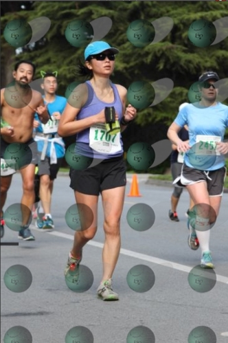 Fighting hard at the end of the race.  Hey, at least I was beating the shirtless dude and the cat-ears guy.