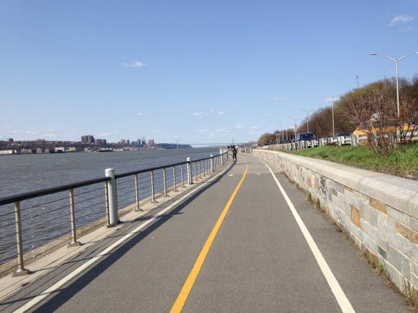 Running along the Hudson River.