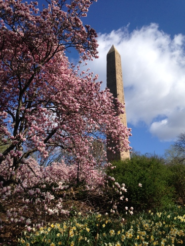 The Obelisk, the oldest man-made object in Central Park (according to the park's website)