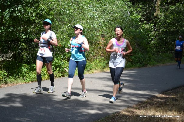 Me and JT finishing up the first loop. (Photo courtesy of Coastal Trail Runs)