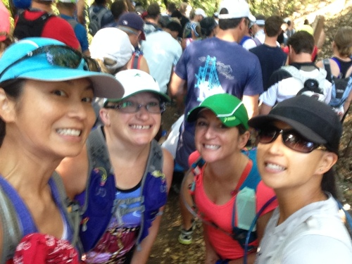 Group selfie right before the start of the race. That's my