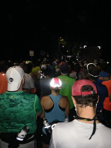 Waiting in darkness for SRM to start.
