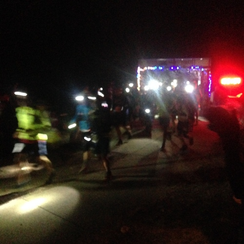 And the night marathoner are off!