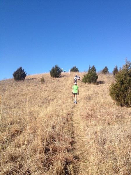 Climbing up Holmes Peak (photo credit: Cathryn)
